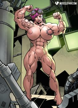 Female Muscle Growth Vi by muscle-fan-comics