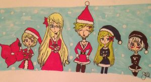Merry Christmas from the Fem!Nordics!?! by Whitelili123
