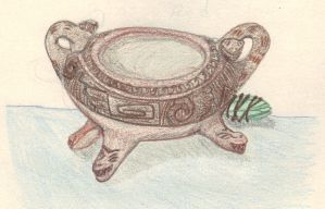 Tripod Snake Bowl by CherokeeGal1975