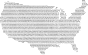 Word mosaic USA map by KTurtle