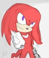 Knuckles the echidna. by Julie-su15
