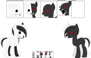 .:DOLL:. Monokuma Pony's Official Ref Sheet by Dreadful-Etiquette