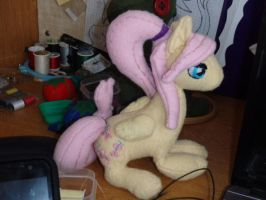 Ponytail Fluttershy Plushie by CrossStitchedHeritic