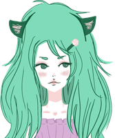 CommonDoodles' OC Green - Bust by beyourpet