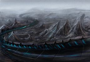 Speedpaint: Sci fi Racetrack by ShadowDragon22