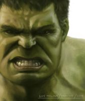 The Incredible Hulk: Painting practice and study by radnix