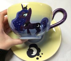 Princess Luna Cup and Saucer Set by AliceDreamChaser