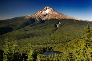 Mount Hood from TDH Mtn by greglief