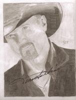 Trace Adkins Signed Drawing I Drew For Him by DecreeB
