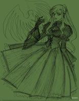 Gothic gal: Unfinished by MaveT