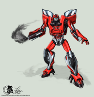Crimson Colored by Laserbot