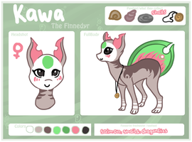 Kawa-ref sheet by LuckyPaw