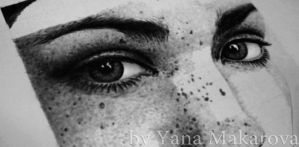 Girl with freckles, another by Makarova17