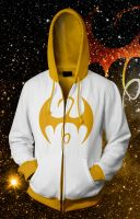 Iron Fist - White and Gold Alternate Hoodie by prathik