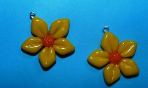 polymer clay flowers by RODOTHEA