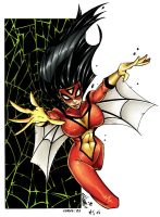 SpiderWoman by ejslayer