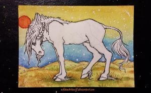 Unicorn ATC :for sale: by whitew3r3wolf