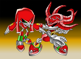 Metallix MK3 Vs Mecha Knuckles by Ben2k9