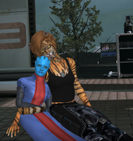 Isra and Alria Relaxing by Padme4000