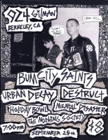 Bum City Saints Flyer by rcsi1
