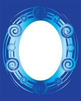 Shades of Blue - Oval Frame by mythicdragon30