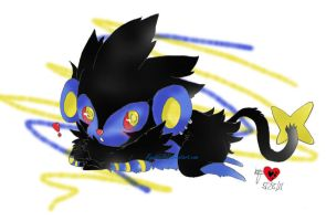 Luxray Laying Around by RyuBlu