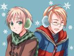 USAUK in Winter/Hetalia by sena1923