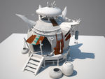 Unfinished 3d fantasy house by BrainPeace