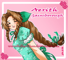 Kiriban : Aerith by Rolly-Chan