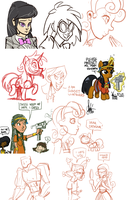 Livestream sketch dump #5 by TheArtrix