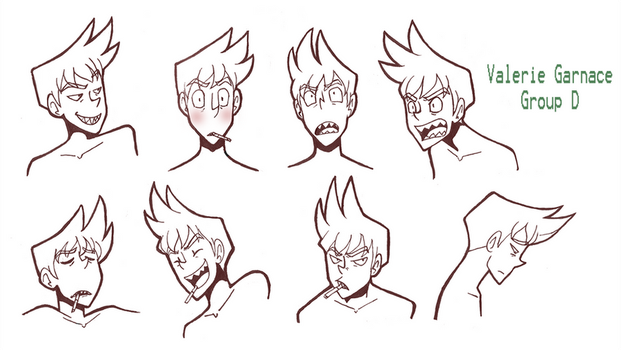 Facial Expressions - Bryton by bucketofROBOTS
