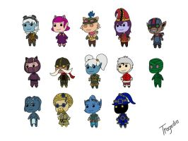 league of legends chibi yordles and children by TragediaIrk