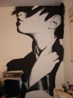 the first painting on my wall by helloXkittyXisXdead
