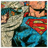 Superman Close-Up Comic Collage by flukiechic