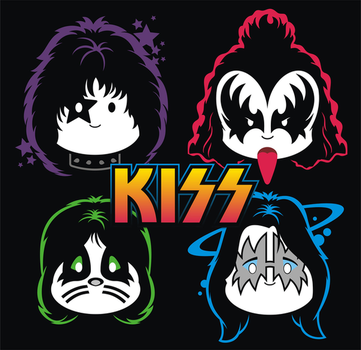 KISS cuties Whiteface by brant5studios