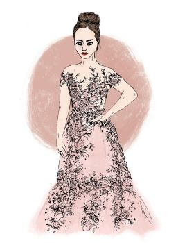 Lily Collins- Golden Globes by mkaytee
