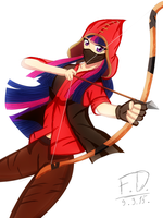 The red sniper is Twilight! by FluffyDus