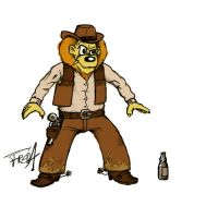The Gun, the Beer and the Lion by fred-dyk