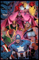 George Perez Avengers by EagleGosselin