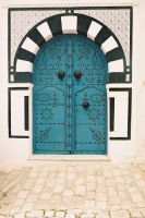 Traditional Blue Door by Airguitaringpenguin