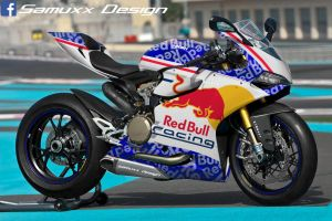 Ducati 1199 Panigale Red Bull by SAMUXX