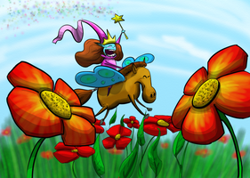 Flower Fairy Fun Time! by GrowlBert