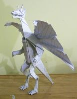 Origami Anthro Dragon by twistedndistorted