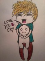 PewDiePie and Cry by Zaannoox