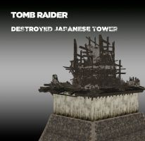 TOMB RAIDER destroyed japanese tower by doppelstuff