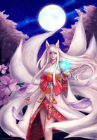 Kitsune Ahri by vixyl