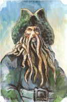 Davy Jones Watercolor Sketch.. by ssava