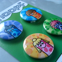Worms In Wigs Badges by moopf