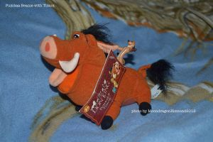 Pumbaa with Timon and label - TLK by MoondragonEismond