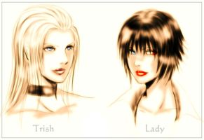 Trish and Lady by Rashany by HopeLope